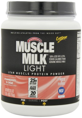 CytoSport Muscle Milk Light, Strawberries 'N Creme, 1.65-Pounds