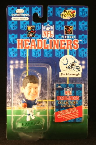 JIM HARBAUGH / INDIANAPOLIS COLTS * 3 INCH * 1996 NFL Headliners Football Collector Figure