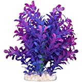SODIAL(R) Plante Artificielle Aquatique en Plastique Violet-bleu Deco pour Aquarium