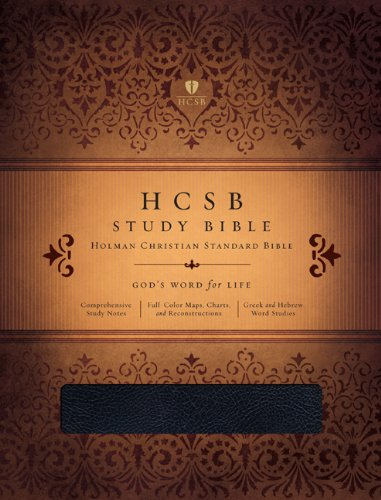 HCSB Study Bible, Black Genuine Leather Indexed