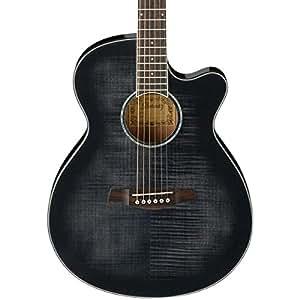 ibanez aeg240 thinline recording acoustic electric guitar transparent black sunburst usb output. Black Bedroom Furniture Sets. Home Design Ideas