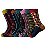 JYinstyle Pack Mens Colorful Fun Cotton Crew Socks Us Size 10-13