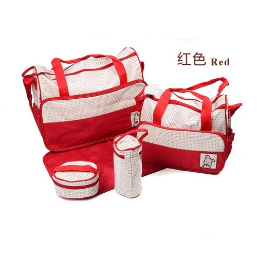Tojoy Baby Diaper Bag Nappy Tote Shoulder Bags With Changing Mat 5 Pieces Set front-903072