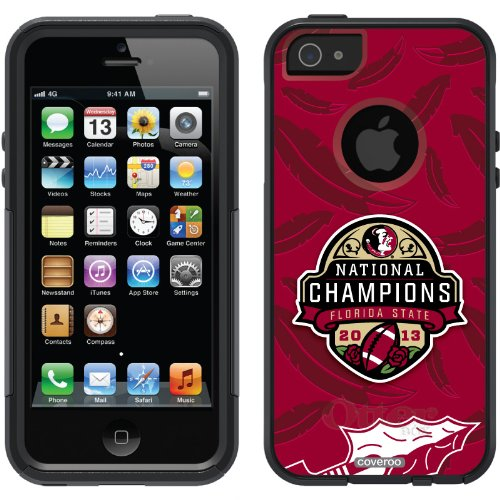 Special Sale Florida State 2013 BCS Champions Garnet design on a Black OtterBox® Commuter Series® Case for iPhone 5s / 5