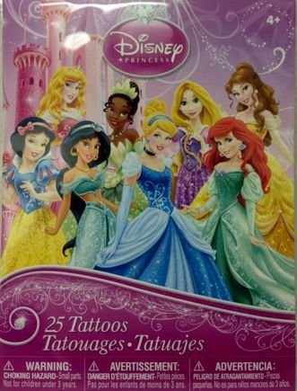 Disney Princess 25 Piece Temporary Tattoo Set
