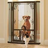 """42""""H Tension-mount Dual Door Steel Mesh Pet Gate"""
