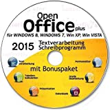 Open Office Paket 2015 CD/DVD kompatibel zu Word & Excel® -Für Windows 7®, 8® ,XP® & Vista®