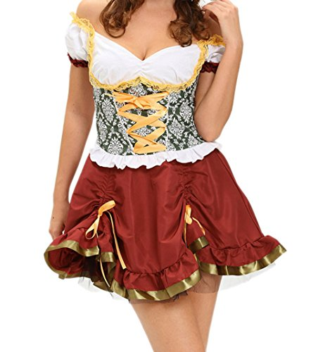 GERGER BO Adult Beer Garden Girl Costume(Size,M) (Sexy Bollywood Beauty India Costume)