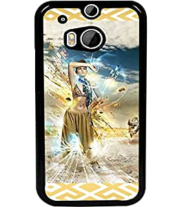 ColourCraft Lovely Girl Image Design Back Case Cover for HTC ONE M8