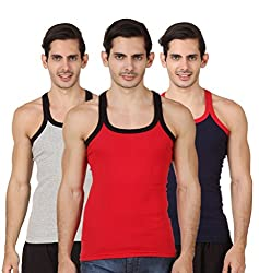 HAP KINGS RIB MENS GYM VEST MULTICOLOR PACK (PACK OF 3)