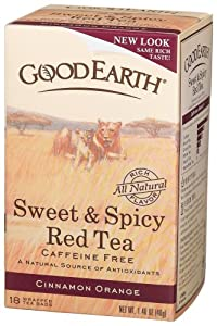 Good Earth Red Tea, Sweet And Spicy, Tea Bags, 18-Count, Boxes (Pack of 6)