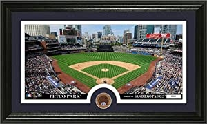 San Diego Padres Framed Dirt Coin Panoramic Photo Mint by Hall of Fame Memorabilia
