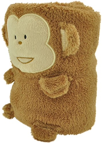 Jack and Friends Cuddly Animal Baby Blanket (Monkey)