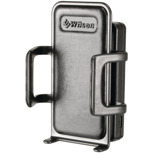 Wilson Electronics Sleek Cell Phone Signal Cradle Booster for All Cell Phones with Mini Magnet Mount Antenna  – For Single User