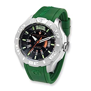 Green Strap Stainless Steel Automatic Watch by Charles Hubert Paris Watches, Best Quality Free Gift Box Satisfaction Guaranteed