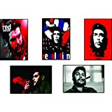 Set Of Posters | Original Quotes Decorative Che Guevara Poster (Pack Of 5) | News Paper Size 14 Inch X 26 Inch...