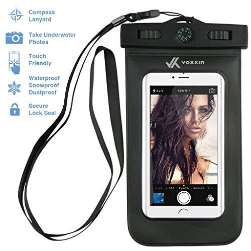 Voxkin--PREMIUM-QUALITY-Universal-Waterproof-Case-with-COMPASS-LANYARD-Best-Water-Proof-Dustproof-Snow-proof-Dry-Bag-for-iPhone-6S-6-6-Plus-5-Galaxy-S6-S5-Note-4-or-Any-Cell-Phones
