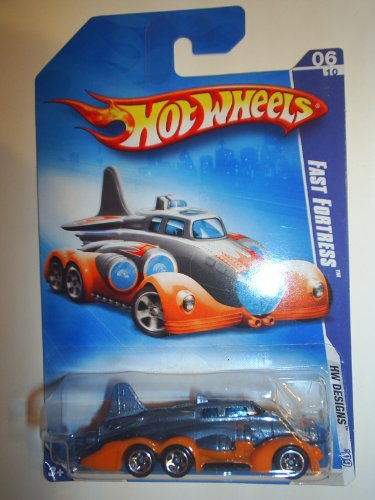 Hot Wheels Gray Orange Trim Fast Fortress 2009 6 of 10 102/190 - 1