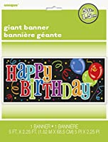 "Happy Birthday Wall Banner, 60"" x 27"" by Unique"