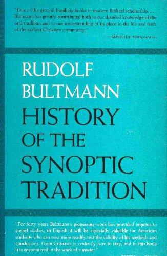 History of the Synoptic Tradition PDF