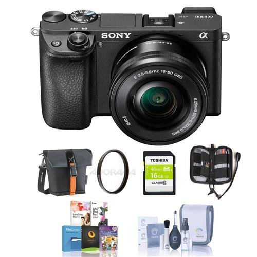 Sony Alpha a6300 Mirrorless Digital Camera Body with 16-50mm E-Mount...