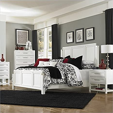 Magnussen Clearwater Panel Bed in White - King