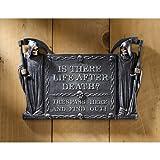 Design Toscano CL6290 Life After Death No Trespassing Wall Sculpture