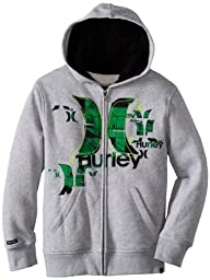 Hurley Big Boys\' King Street Hoody, Grey Heather, Large