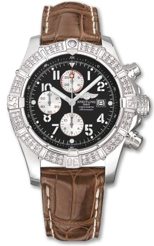 NEW BREITLING SUPER AVENGER DIAMOND MENS WATCH A1337053/B973