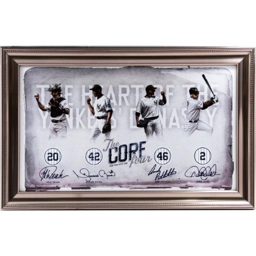 Derek Jeter Andy Pettitte Jorge Posada Mariano Rivera Core Four Heart Of The Yankees Dynasty Photo Framed Collage front-999299