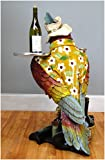 Parrot Butler Statue bird drink serving silver tray 3' waiter restaurant kitchen