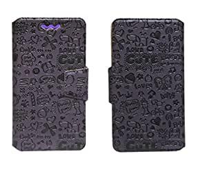 J Cover Taddy Series Leather Pouch Flip Case With Silicon Holder For Samsung Galaxy On5 Pro Purple