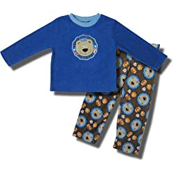 "Teddy Bear - All Sport ""Go Team"" 2 piece Fleece Pajamas for Toddler Boys"