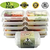 Gloue Environmental Friendly Food Containers - Freezer Friendly Dishwasher Safe Microwave Safe Stackable Reusable- Perfect Meal Prep Containers (28oz - Set of 10)