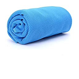 Cooling Towel For Instant, Cool Relief. Advanced Highly Absorbent Material Retains Moisture Helps Cool Up To 30° Below Body Temperature. Just Soak, Wring Out & You\'re Ready To Stay Cool On The Go