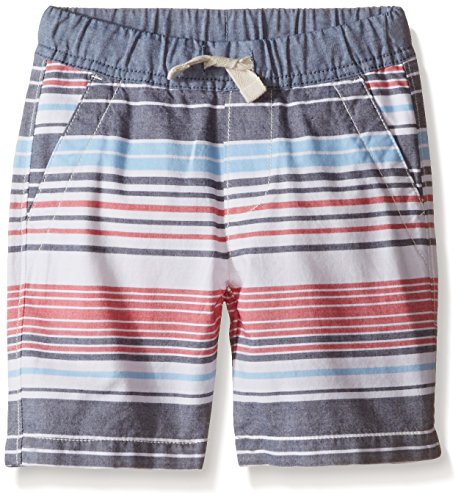Nautica Little Boys' Variegated Stripe Short, Carmine, 5/6 (Medium)