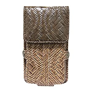 Jo Jo A6 Bali Series Leather Pouch Holster Case For Karbonn Karbonn Smart A5 Star Tan Brown