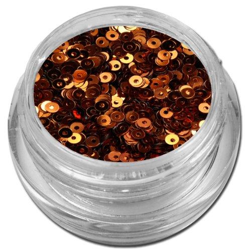RM Beautynails Glitter Donuts Kreise Kringel Glitzer Nailart Nageldesign Bronze / Braun metallic