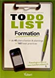 Acheter le livre To Do List Formation