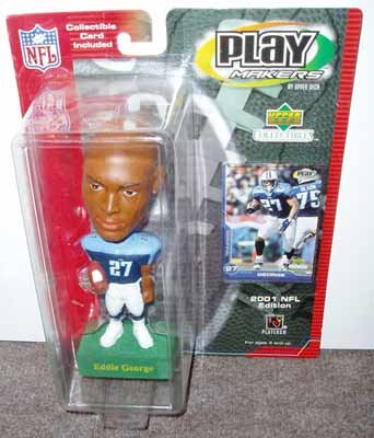 Play Makers Eddie George Bobble Head & Collectible Card - 1