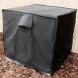 Sunnydaze Heavy-Duty Square Air Conditioner Cover, Black, 34 X 30 Inch
