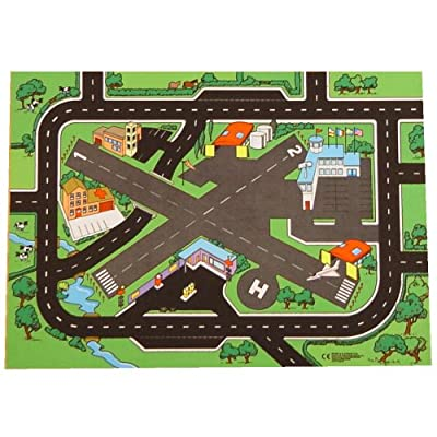 Combo Airport & Roadway Playmat (100x73cm) - a fun place for all your car, fire engine & plane games!