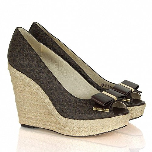 Michael Michael Kors Women'S Meg Espadrille Wedges, Brown, 7 B(M) Us