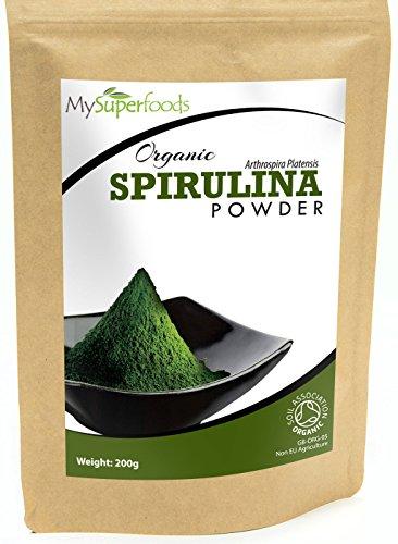Bio Spirulina-Pulver (200g) | Höchste Qualität | Garantiert organisch durch die Soil Association | Von MySuperfoods