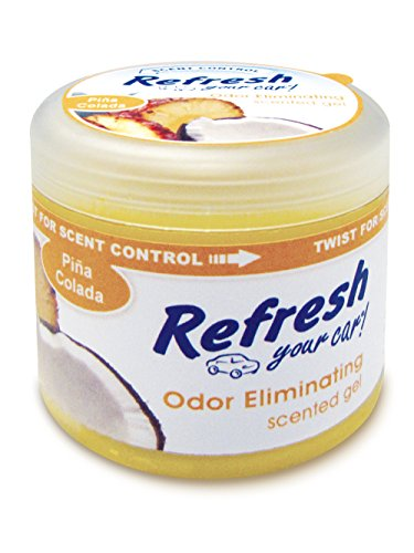Refresh Your Car! 09931 Scented Gel Can, 4.5 oz, Pina Colada (Air Freshener Pina Colada compare prices)