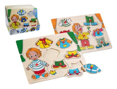 Imagen principal de Happy People 60306 - Puzzle encajable de madera, modelo niños y ropa