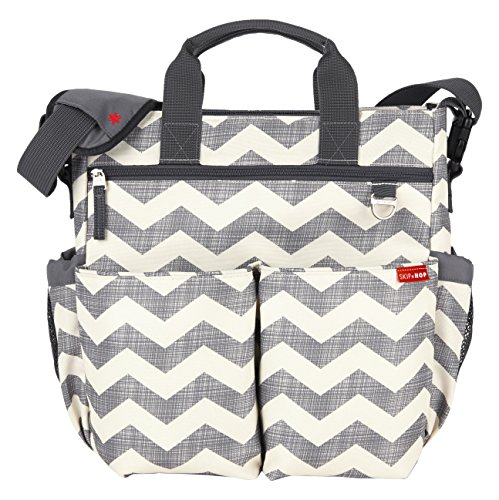 skip-hop-baby-duo-signature-diaper-bag-with-convertible-shoulder-to-stroller-shuttle-clips-and-cushi