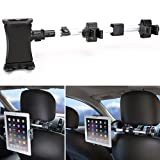 Tablet Mount Holder, iKross Universal Tablet Car Backseat Headrest Extendable Mount Holder For 7 - 10.2-inch Tablet - Black