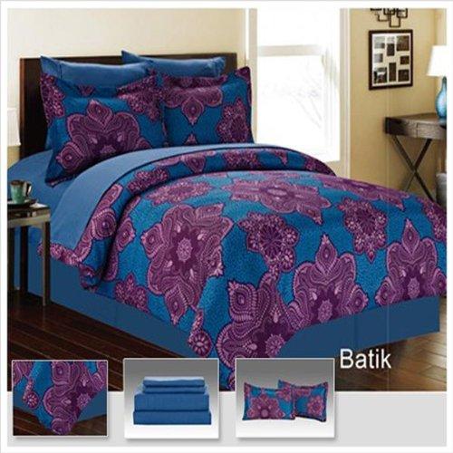 Batic 8 Piece Comforter Bed In A Bag Set Queen front-174673