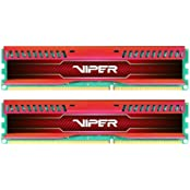 Patriot 8GB 2x4GB Viper III DDR3 1866MHz PC3 15000 CL10 Desktop Memory With Low Profile Red Heatsink - PVL38G186C0KR